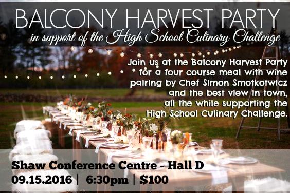 Balcony Harvest Party Invite